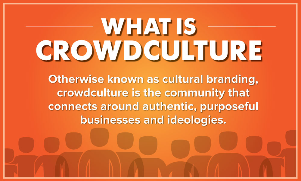 Crowdculture is the community that connects around authentic, purposeful businesses and ideologies.